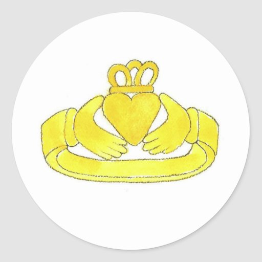 Claddagh Ring Classic Round Sticker