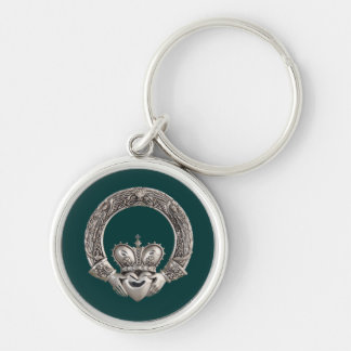 Claddagh Silver-Colored Round Keychain