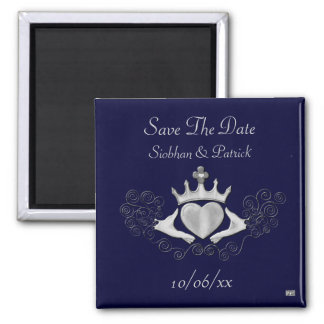 Claddagh Silver Save the Date Fridge Magnets
