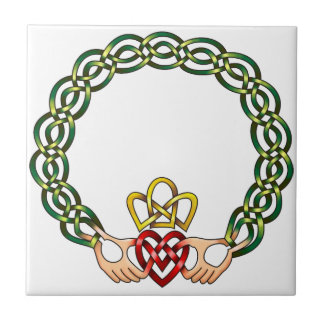 Claddagh Small Square Tile