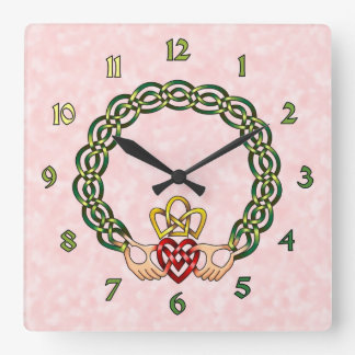 Claddagh Square Wall Clock