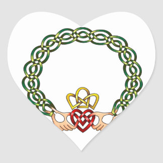 Claddagh Heart Stickers