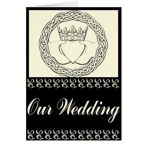 Claddagh Wedding Invitation Set Cards