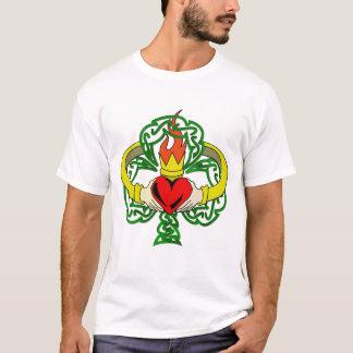 Claddaugh Melange Ringer T T-Shirt