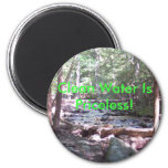 Claean Water Is Priceless! Fridge Magnets
