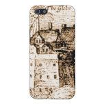 Claes Jansz Visscher Globe Theatre Engraving Cases For iPhone 5