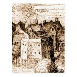 Claes Jansz Visscher Globe Theatre Engraving Post Card
