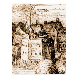 Claes Jansz Visscher Globe Theatre Engraving Postcard