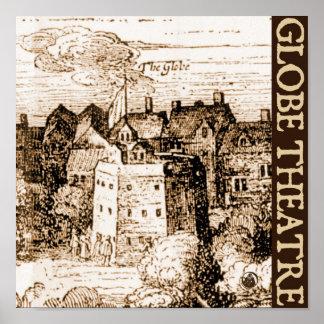 Claes Jansz Visscher Globe Theatre Engraving Poster