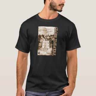 Claes Jansz Visscher Globe Theatre Engraving T-Shirt