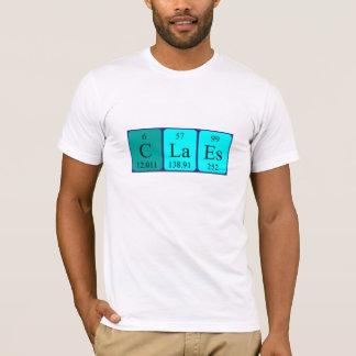 Claes periodic table name shirt