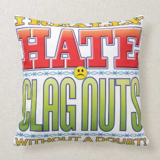 Clag Nuts Hate Face Throw Pillow