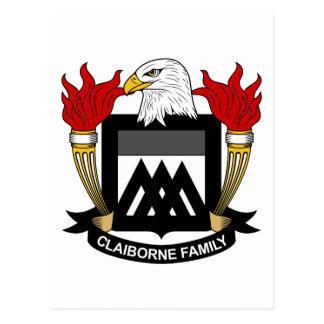 Claiborne Family Crest Postcard