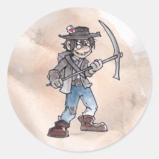 Claim Jumper Round Sticker
