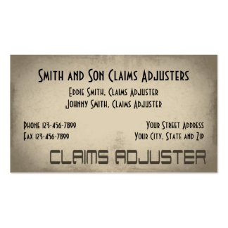 Claims Adjuster Business Card