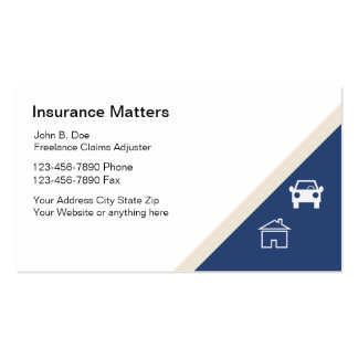 Claims Adjuster Business Cards
