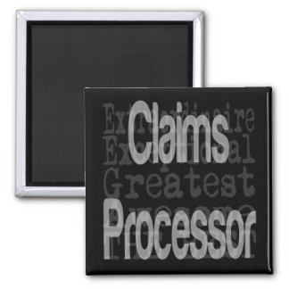 Claims Processor Extraordinaire 2 Inch Square Magnet