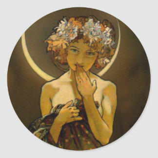 Clair de Lune Classic Round Sticker