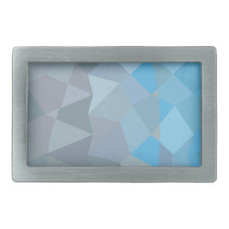 Clair de Lune Grey Abstract Low Polygon Background Belt Buckle