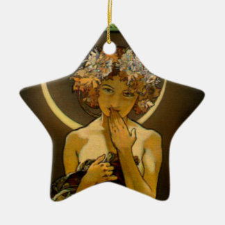 Clair de Lune Double-Sided Star Ceramic Christmas Ornament