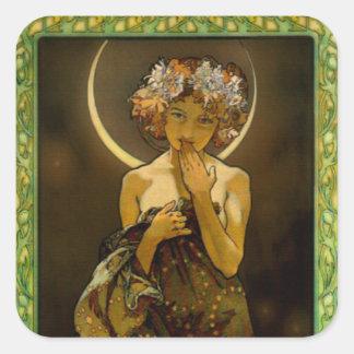 Clair de Lune Pegatina Cuadrada