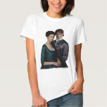 Claire And Jamie Damask Portrait T-Shirt