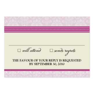 "::claire:: Charming Damask 3.5""x2.5"" RSVP Card_v2 Large Business Cards (Pack Of 100)"