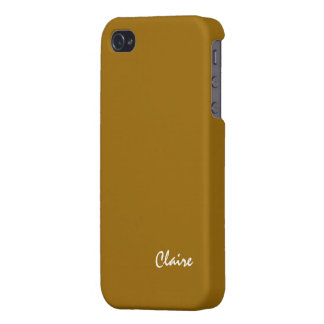 Claire iphone 4 brown case iPhone 4 case