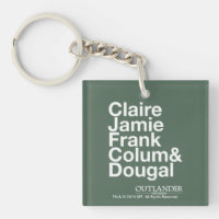 Claire, Jamie, Frank, Colum & Dougal Double-Sided Square Acrylic Keychain