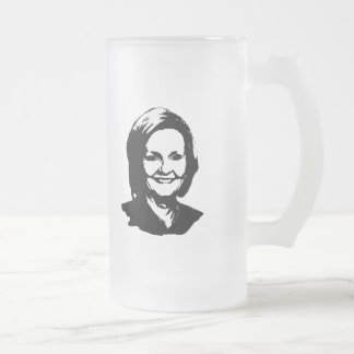 Claire McCaskill 16 Oz Frosted Glass Beer Mug