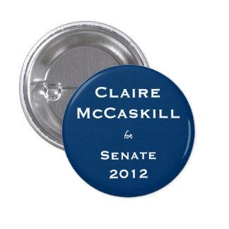 Claire McCaskill para el senado Pin Redondo 2,5 Cm