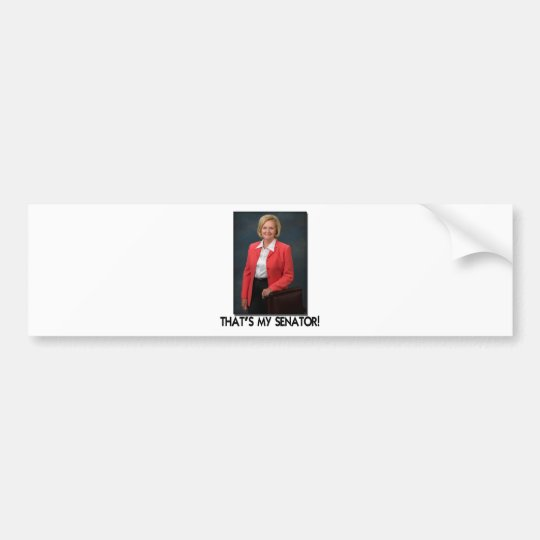 Claire McCaskill, That's My Senator! Bumper Sticker