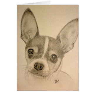 Claire Pencil Drawing Blank Card