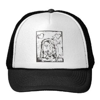 Claire portrait print trucker hat