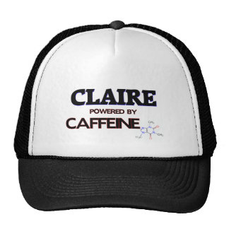 Claire powered by caffeine hat