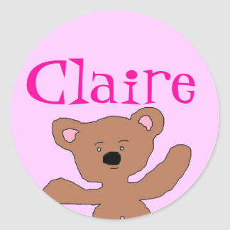 Claire Teddy bear stickers