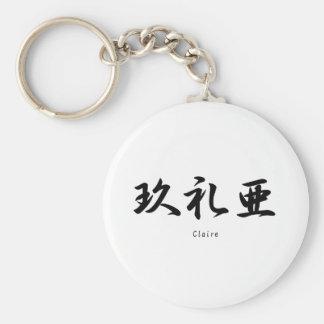 Claire tradujo a símbolos japoneses del kanji llaveros personalizados