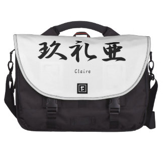 Claire translated into Japanese kanji symbols. Laptop Computer Bag
