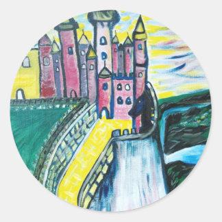 claires castle 002 classic round sticker