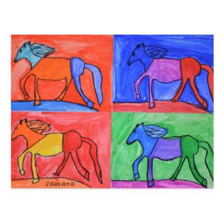 Claire's Horses Postcard