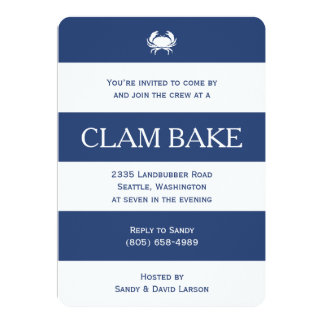 Clam Bake Card