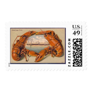 Clam Bake lobster harbor Postage