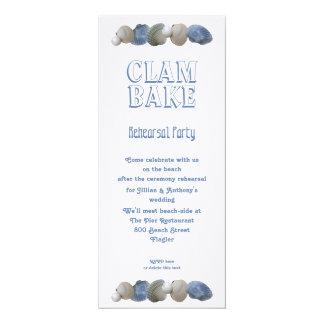 "Clam Bake Tall Wedding Rehearsal Party Invitation 4"" X 9.25"" Invitation Card"