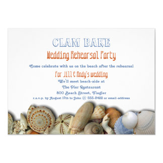 Clam Bake Wedding Rehearsal Dinner Party Invite