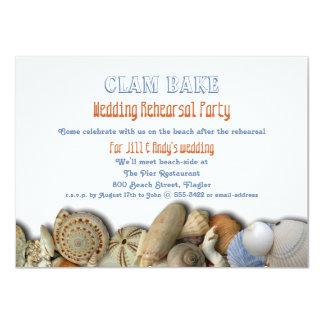 "Clam Bake Wedding Rehearsal Dinner Party Invite 4.5"" X 6.25"" Invitation Card"