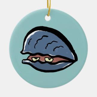 clam ceramic ornament