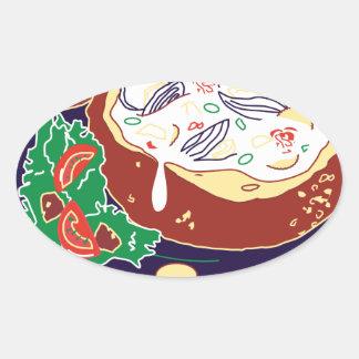 Clam Chowder Day - Appreciation Day Oval Sticker