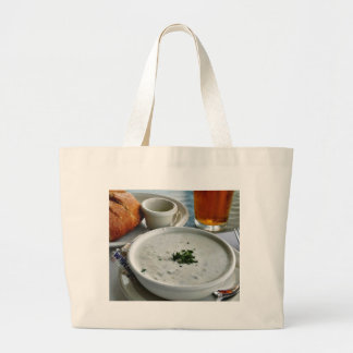 Clam Chowder With Beer And Sour Dough Bread Tote Bag