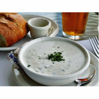 Clam Chowder With Beer And Sour Dough Bread Photo Cutouts