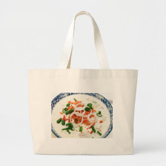 Clam Chowder With Paprika Tote Bags